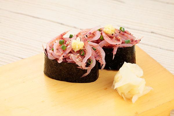 桜えびの醤油漬け寿司<2貫>